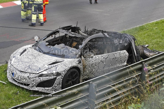 Inflammation of Acura NSX 2016 during the Test