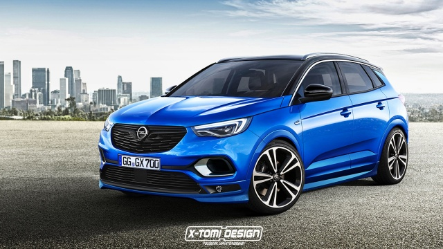 Hot Opel Grandland X With OPC Treatment