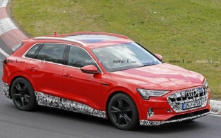 Audi took up tests of the e-Tron sports version on electricity