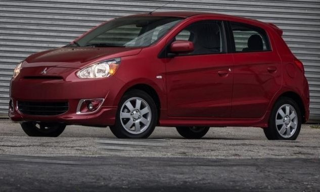 The Mitsubishi Mirage presentation at the New York auto show
