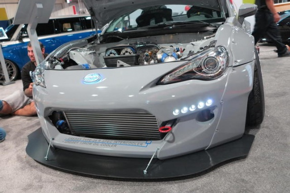 Supra-Enhanced FR-S Headlines Scion SEMA Customs