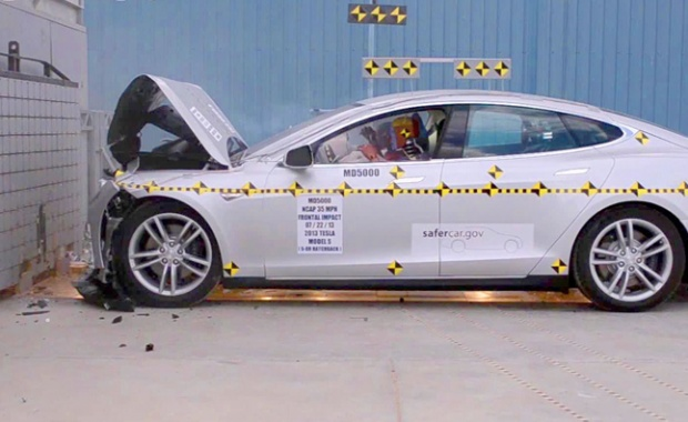 Top Safety of Model S 2014 from Tesla Retained