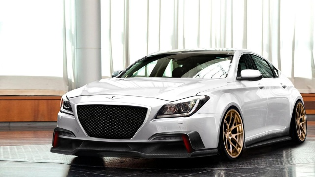 Preview of 2015 Hyundai Genesis by ARK Performance before the SEMA debut