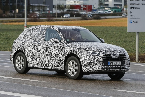 New Grille and Headlights of 2017 Audi Q5