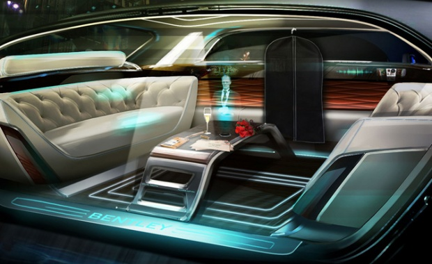 Holographic Butler from Bentley for Driverless Vehicles