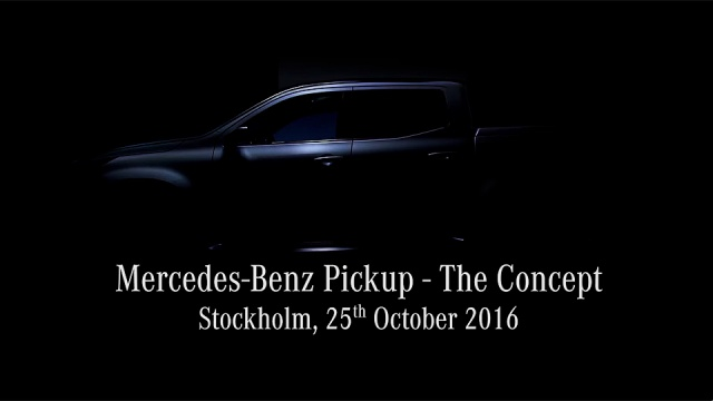 Debut Of Mercedes Pickup Truck Concept