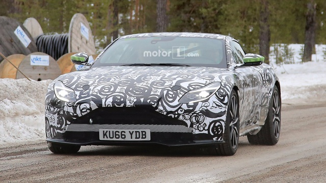 Paparazzi Caught Aston Martin DB11 S