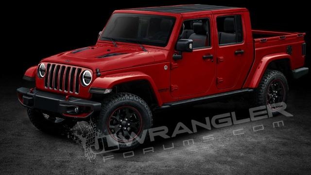 Rendering Of 2019 Jeep Wrangler Pick-Up
