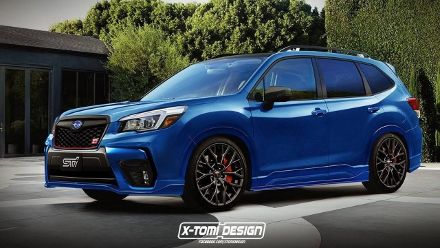 "New Subaru Forester taken a special ""hot"" modification"