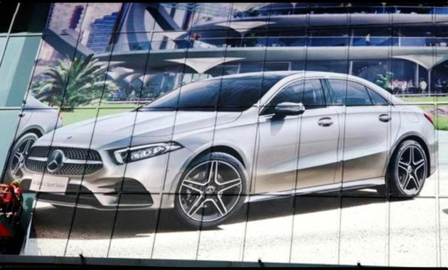 The exterior of sedan Mercedes-Benz A-Class is revealed