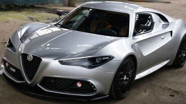 Umberto Palermo Design Atelier made own version of the new Alfa Romeo 4C