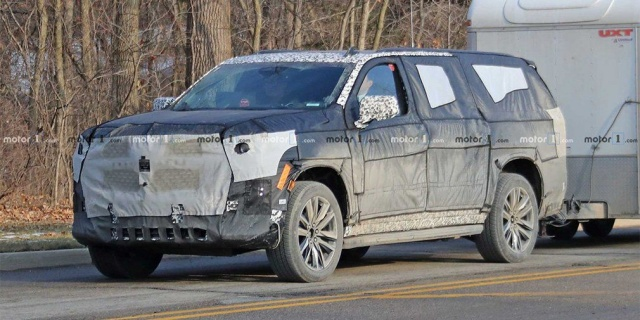 New Cadillac Escalade tests for the first time