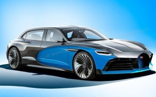 Appeared an alleged design of the first Bugatti sedan on electricity