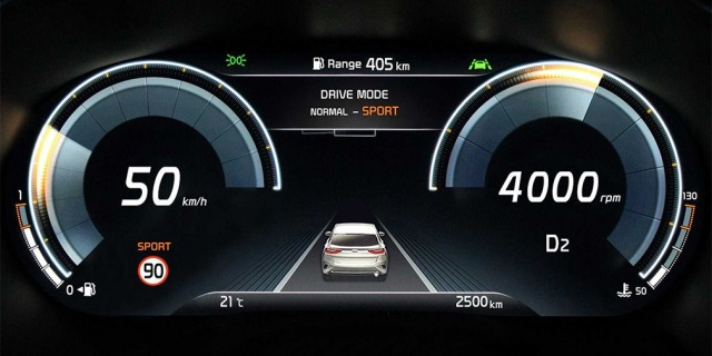 A new Kia XCeed provides with a digital dashboard