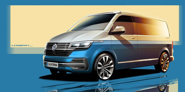 The announcement of the updated camper Volkswagen California