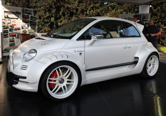 Tuners made of a Fiat 500 rear wheel drive car