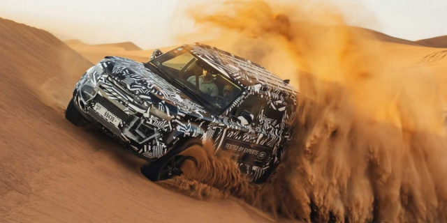 New Land Rover Defender tested in the desert