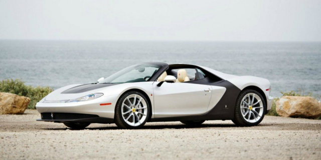 A unique Ferrari Sergio supercar auctioned off