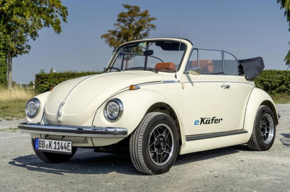The classic Volkswagen Beetle became an electric car