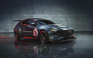 The new Mazda3 has become a powerful racing car