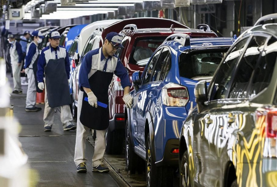 Subaru shuts down its plants due to typhoon