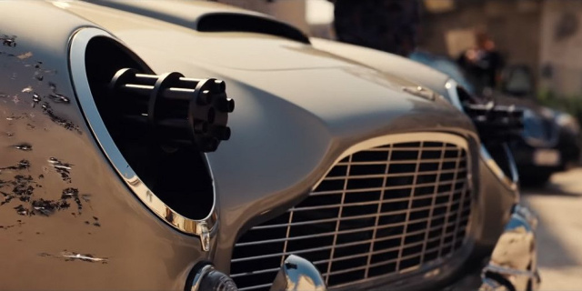 Aston Martin will receive machine guns in the headlights in James Bond movie (VIDEO)