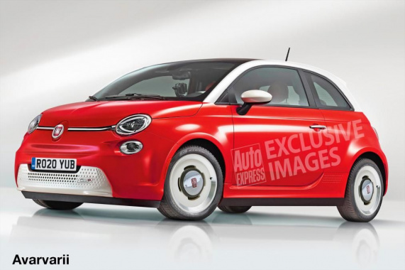 The all-new Fiat 500 electric car going on tests