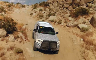 Ford Bronco of a new variation appeared on video