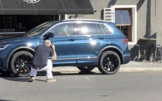 Updated Volkswagen Tiguan caught in serial form