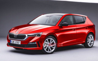 Skoda Fabia 2021 shown on a first render