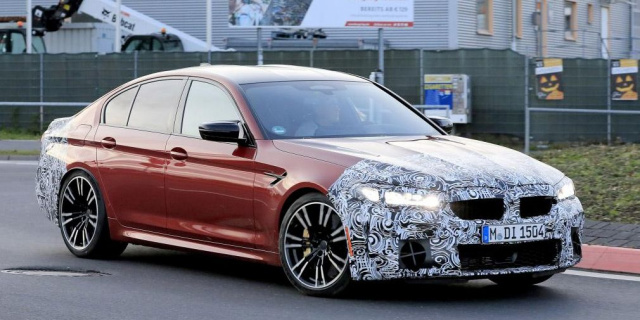 The updated BMW M5 Sedan staged the first test races