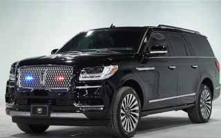 Long base Lincoln Navigator turned into an armored car