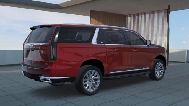 Debuted the new long Cadillac Escalade ESV