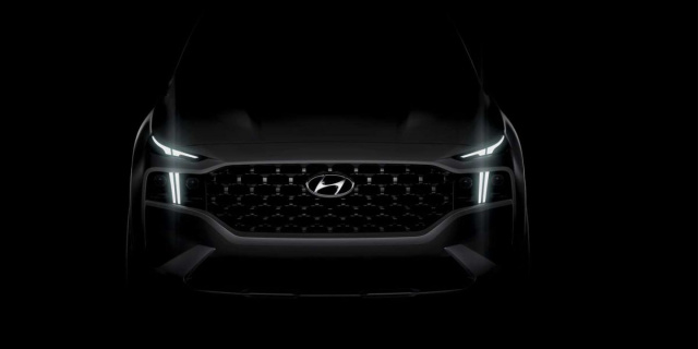 Hyundai showed on the new image updated Santa Fe