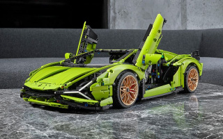The most potent supercar Lamborghini turned into a Lego model