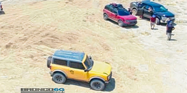 New Ford Bronco and Bronco Sport appeared at a photoshoot