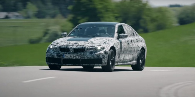 The new BMW M3 shown on video