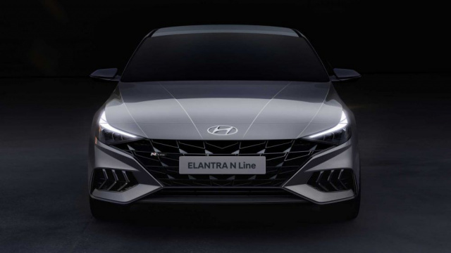 Teasers of the new Hyundai Elantra N Line appeared
