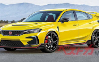 The new Honda Civic Type R showed in the photo