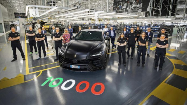 The 10,000th Lamborghini Urus released