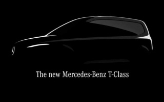 Mercedes-Benz T-Class minivan teaser appeared on the web