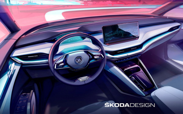 The salon of the newest Skoda SUV declassified