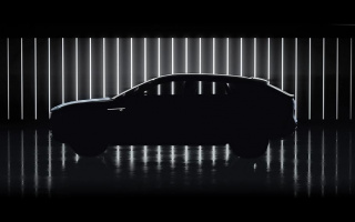 The teaser for the new electric Cadillac Lyriq