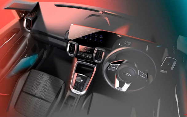 Kia has decided to declassify the interior of the new compact SUV