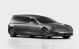 Tesla Model S electric car turned into a top-end hearse