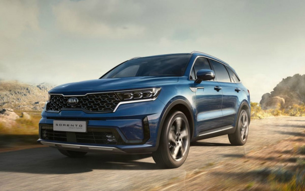Kia showed a version of the new Sorento