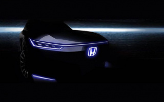 The New Honda electric car is shown in the picture