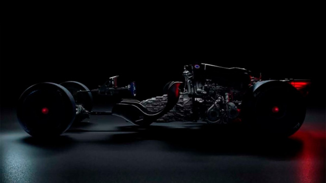 Bugatti decided to show the chassis of a mysterious hypercar