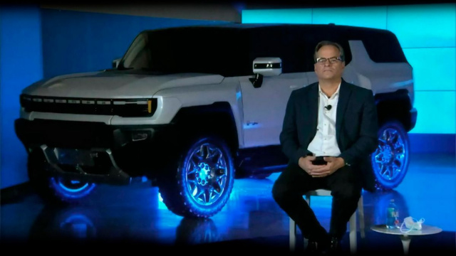 GM announces a Hummer SUV release with an electric motor