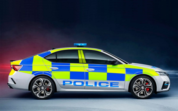 New Skoda Octavia RS turned into a police car